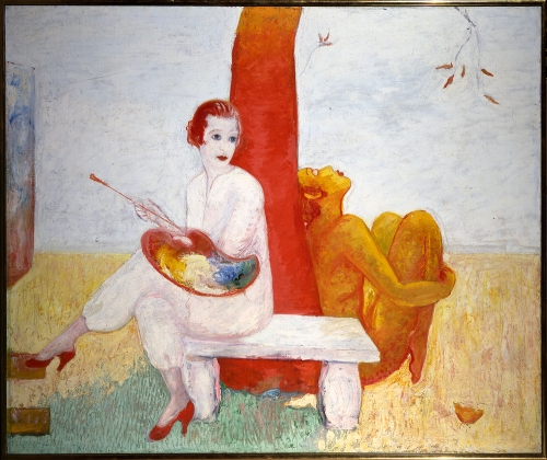 self-portrait-with-palette-painter-and-faun