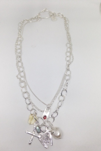 Handmade Silver and Gemstone Neclace